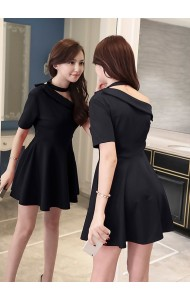 KDS10260729C Half shoulder skater mini dress PHOTO