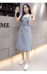 KDS10266103N Plus size soft denim drawstring dress PHOTO