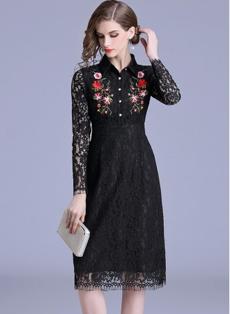 BDS10288723M Embroidery lace dress PHOTO
