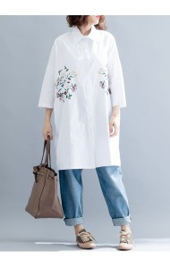 KTP11153411Y Plus size embroidery shirt PHOTO