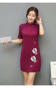 KDS1116827R Embroidery lace cheongsum dress PHOTO