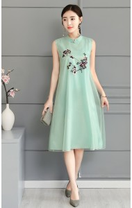 KDS11285393Y Organza embroidery cheongsum dress PHOTO