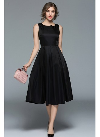 BDS11294528Y Black skater prom dress PHOTO