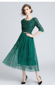 BDS11292336S Petal green prom dress with belt PHOTO