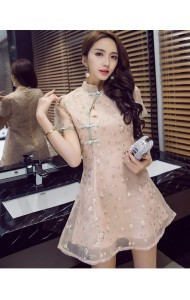 KDS12022338B Embroidery floral organza cheongsum dress PHOTO