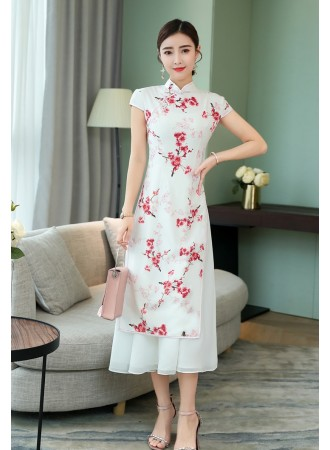 KDS12050581T Silk floral cheongsum dress PHOTO