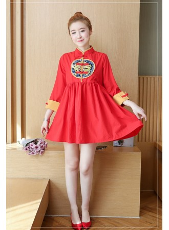 KDS12055665S Embroidery wawa cheongsum dress PHOTO