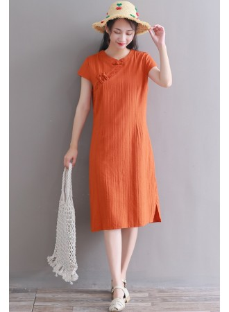 KDS06120181A Linen cheongsum dress PHOTO