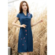 KDS06127188J V neck printed cheongsum dress PHOTO