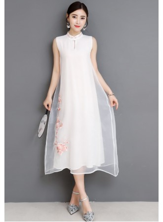 KDS06122588M Embroidery silk cheongsum dress PHOTO