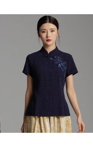 KTP06126806Y Embroidery jacquard cheongsum blouse PHOTO