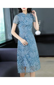 KDS06127981T Blue cheongsum dress PHOTO