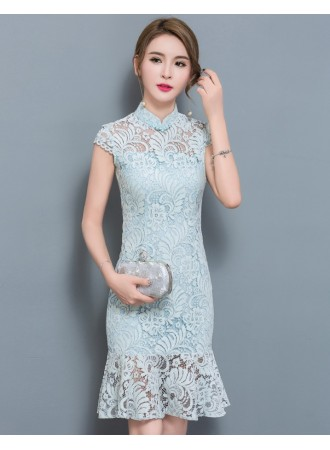 KDS09126008O Mermaid full lace dress PHOTO