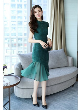 KDS09121159C 2 layer pleated lace dress PHOTO