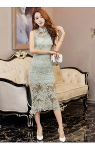 KDS12204896S Full lace mermaid cheongsum dress REAL PHOTO