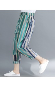 KPT12203709Y Stripes linen pants REAL PHOTO