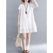 KDS02252268R Crochet embroidery wawa dress REAL PHOTO