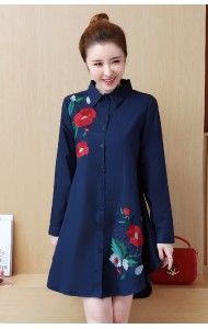 KTP02275811A Plus size embroidery floral blouse REAL PHOTO