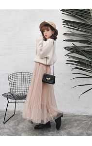 KSK02285107M Pearl tulle skirt REAL PHOTO