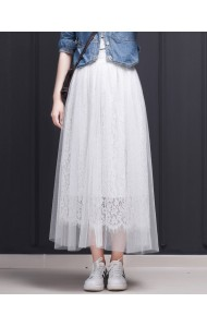 KSK03019861L Lace tulle skirt REAL PHOTO