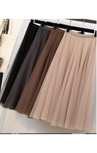 KSK03073702X Plus size tulle skirt REAL PHOTO