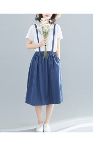 KSK0309220R Linen jumpsuit skirt REAL PHOTO