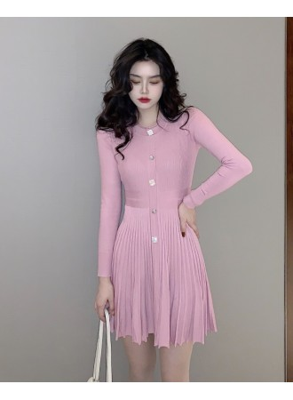 KDS0316567Y Knit pleated dress REAL PHOTO