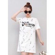 KDS0318616H Plus size printed mickey dress REAL PHOTO