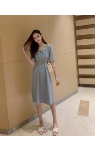 KDS03308381C CHIC button dress REAL PHOTO