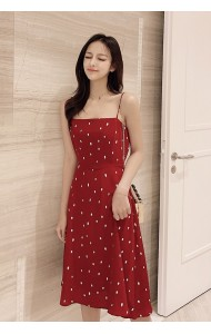 KDS03304359C Polka strappy dress REAL PHOTO