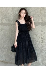 KDS03306216W CHIC glitter ruffle dress REAL PHOTO