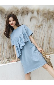 KDS04061191H Ruffle t shirt dress REAL PHOTO