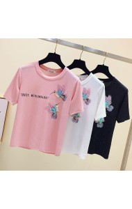 KTP0429828V Sequin bird t shirt RAL PHOTO