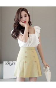 KSK05107605M A line skirt with inner pants REAL PHOTO