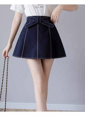 KSK05117188X Bow A line skirt REAL PHOTO