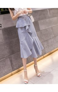 KSK0511028W Asymmetric layer ruffle skirt REAL PHOTO
