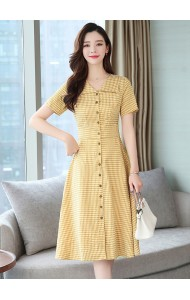 KDS05156578Y Checker button dress  REAL PHOTO
