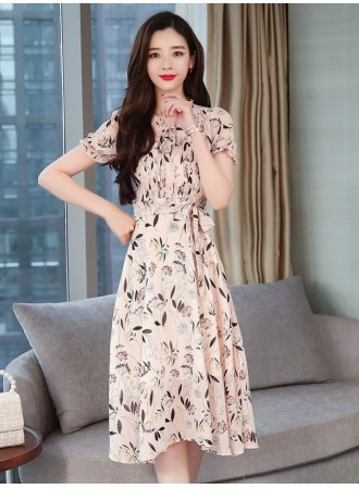 KDS05150578Y Pleated floral dress  REAL PHOTO