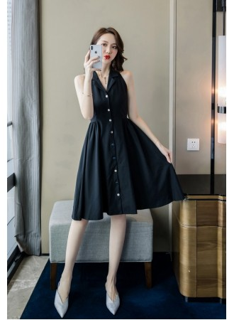 KDS05165616W Halter button dress REAL PHOTO