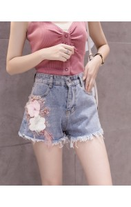 KPT05180201Y 3D flower denim shorts REAL PHOTO