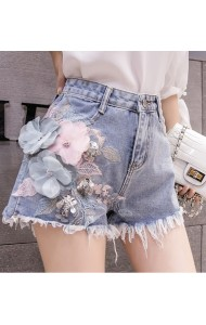 KPT05188101Y 3D flower denim shorts REAL PHOTO