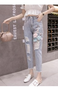 KPT05183201Y 3D flower jeans REAL PHOTO