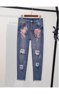 KPT05188201Y 3D flower jeans REAL PHOTO