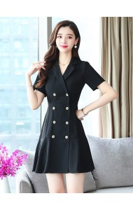 KDS05233088Y Overlapping coat dress REAL PHOTO