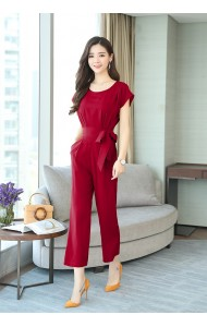KJP05255538Y Plus size front strap jumpsuit REAL PHOTO