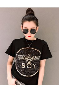 KTP06098715A Sequin BOY t shirt REAL PHOTO