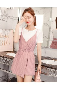 KST0610969L Checker jumpsuit 2pc set REAL PHOTO