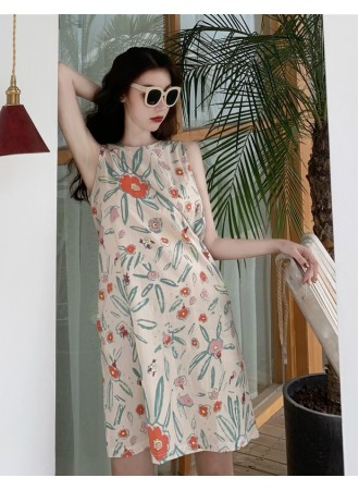KDS06123029L Korea floral A line dress REAL PHOTO