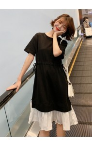 KDS06126475K Drawstring pleated dress REAL PHOTO