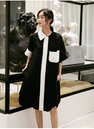 KDS06129229X Oversize asymmetric dress REAL PHOTO